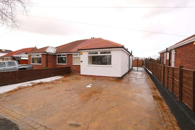 2 Bedrooms Semi Detached Bungalow for sale in Foxhall Road, Denton, Manchester, M34