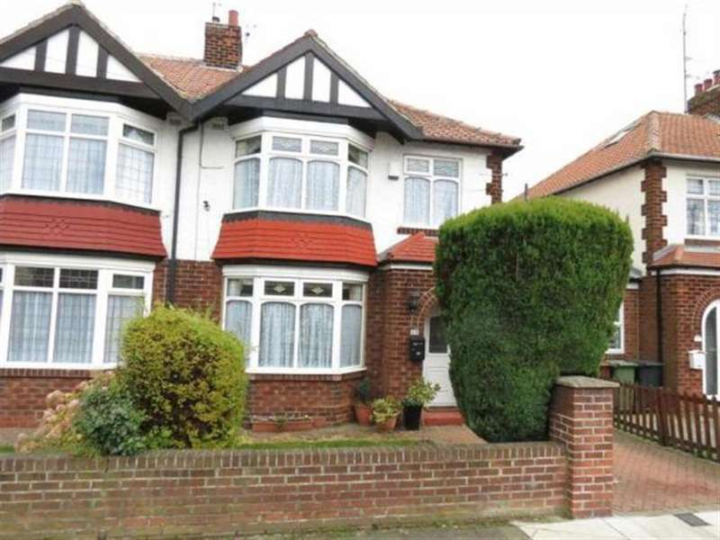 3 Bedrooms Semi Detached House for sale in Tunstall Avenue, Hartlepool, Cleveland, TS26 8NE