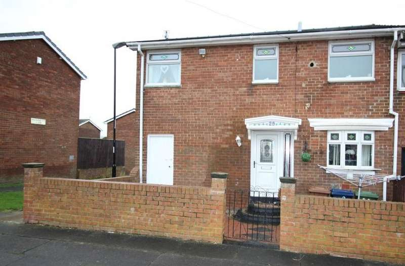 2 Bedrooms Semi Detached House for rent in Watford Close, Witherwack, Sunderland, SR5 5SS