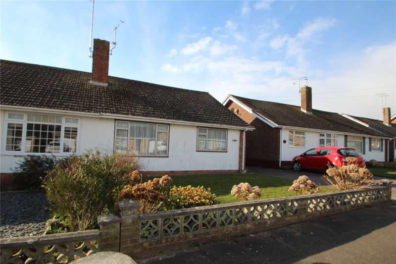 2 Bedrooms Semi Detached Bungalow for sale in Quantock Road, Worthing, West Sussex, BN13