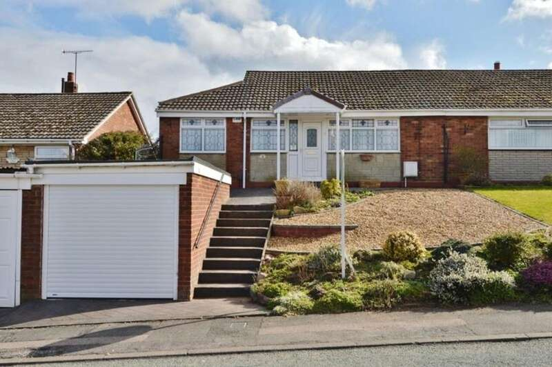 2 Bedrooms Semi Detached Bungalow for sale in Greenfields Drive, Rugeley