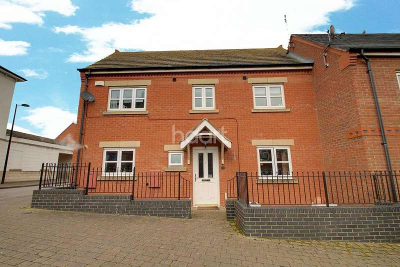 3 Bedrooms Semi Detached House for sale in Hallam Fields Road, Birstall, Leicester
