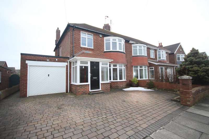 3 Bedrooms Semi Detached House for sale in Rothley Way, Whitley Lodge, Whitley Bay, NE26