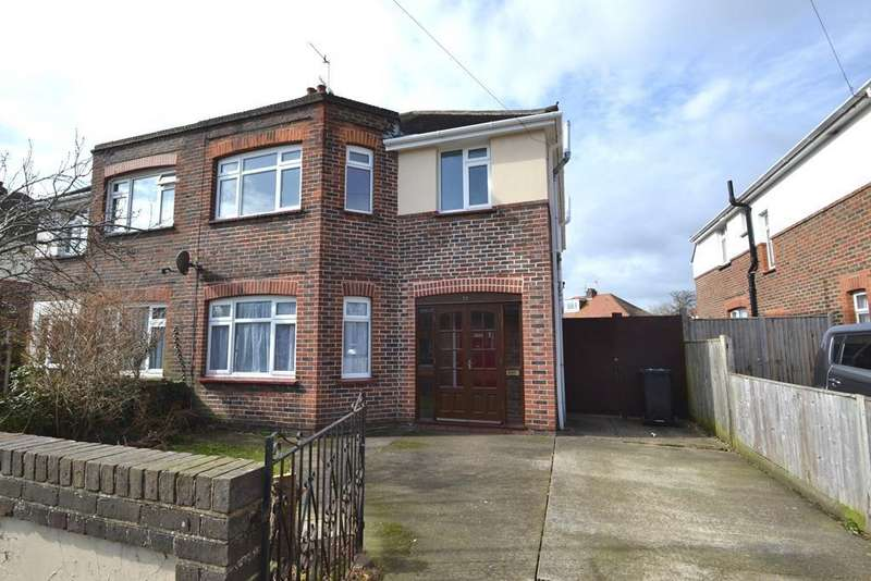 3 Bedrooms Semi Detached House for sale in Garrick Road, Worthing, West Sussex, BN14 8BB
