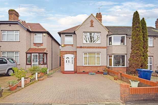 3 Bedrooms End Of Terrace House for sale in Robin Hood Way, GREENFORD, Middlesex
