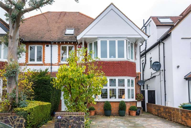 5 Bedrooms Semi Detached House for sale in Lyndhurst Gardens, Church End, London, N3