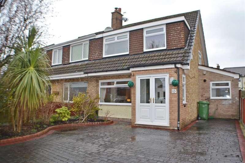 3 Bedrooms Semi Detached House for sale in Wroxham Road, Great Sankey, Warrington