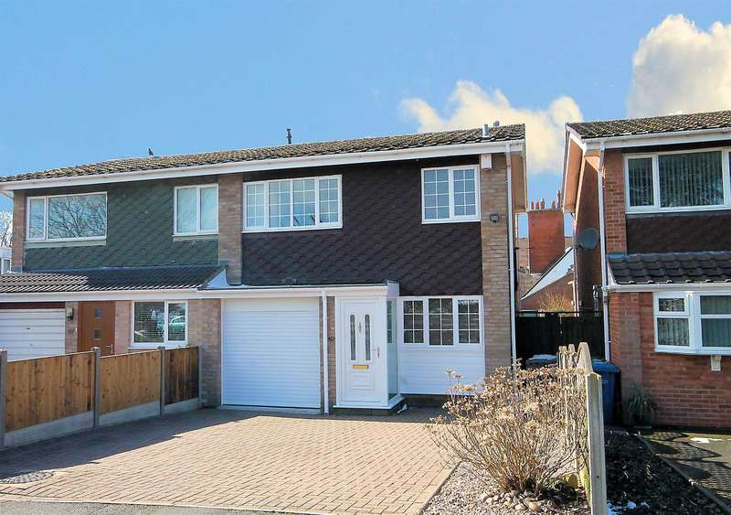 3 Bedrooms Semi Detached House for sale in Hillcrest Close, Tamworth, B79 8PA