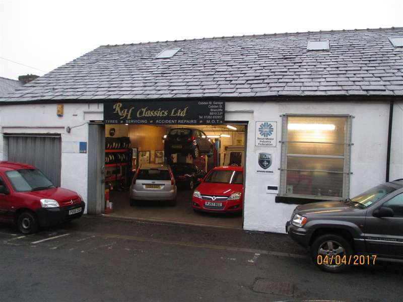 Commercial Property for sale in R H Classics Ltd, Cobden Street, Garage Services & Repair Business, Briercliffe