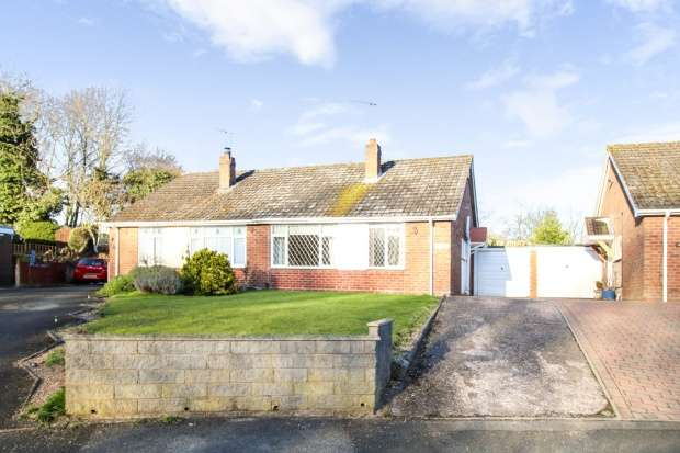 2 Bedrooms Semi Detached Bungalow for sale in Bostock Crescent, Telford, Shropshire, TF3 1BU