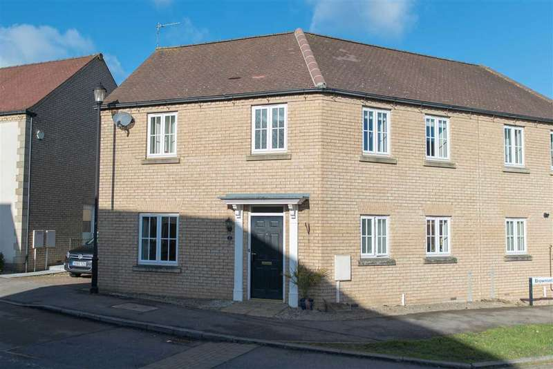3 Bedrooms Semi Detached House for sale in Brownset Drive, Kingsmead, Milton Keynes