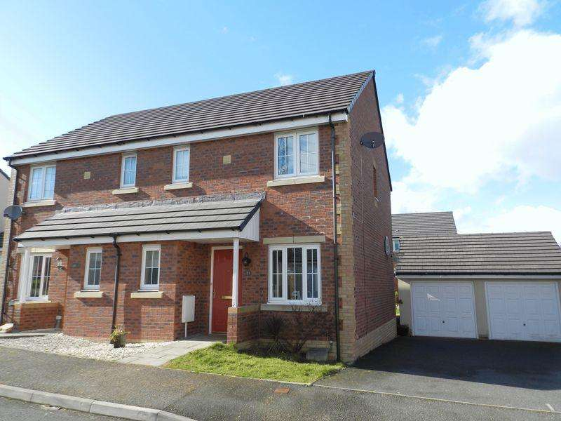 3 Bedrooms Semi Detached House for sale in Gallt Y Ddrudwen Broadlands Bridgend CF31 5FL