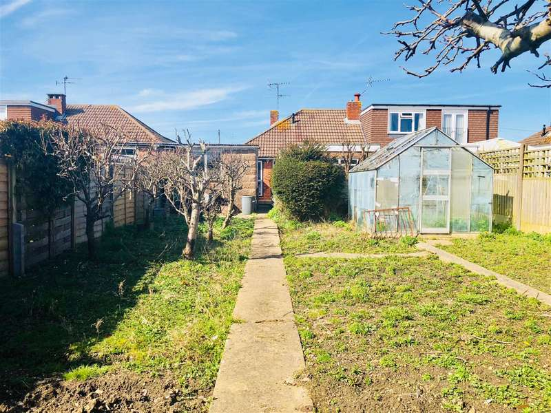 2 Bedrooms Semi Detached Bungalow for sale in Ham Way, Worthing, West Sussex, BN11 2QH