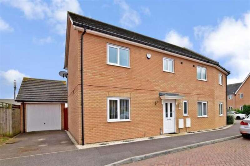 4 Bedrooms Semi Detached House for sale in Chorister Crescent, Hoo, Rochester, ME3