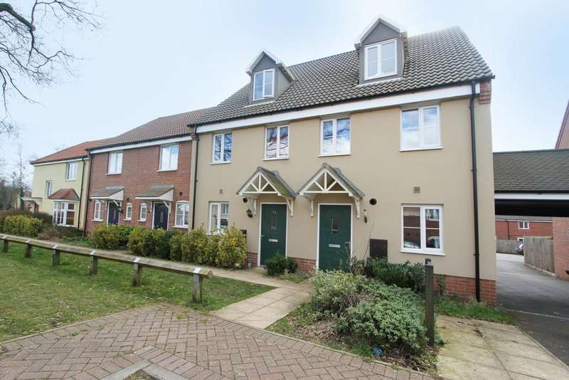 3 Bedrooms Terraced House for sale in Sunderland Close, Carbrooke