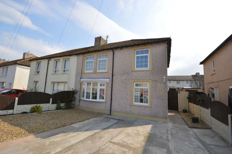3 Bedrooms Semi Detached House for sale in Lakeland Avenue, Whitehaven, CA28