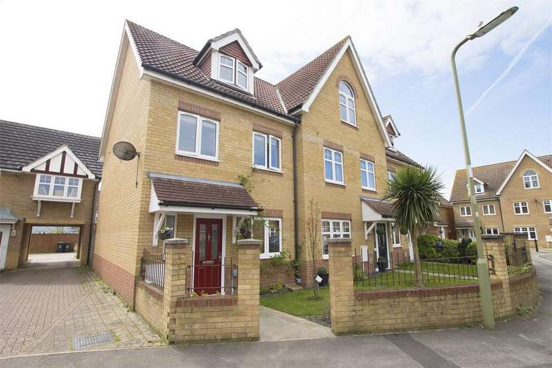 4 Bedrooms End Of Terrace House for sale in Hoverfly Close, Lee-on-the-Solent, Hampshire