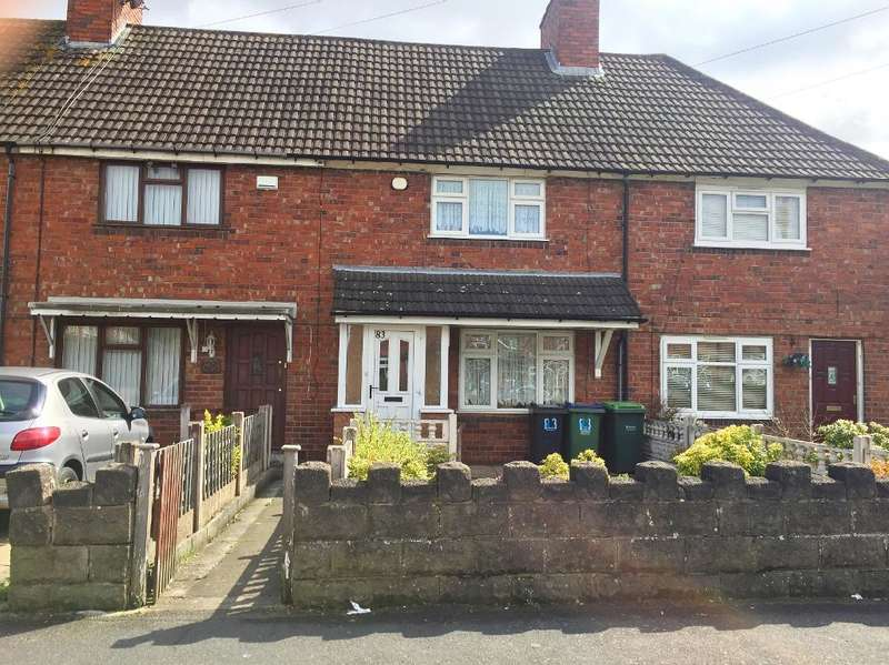 2 Bedrooms Terraced House for sale in MANOR ROAD, WEDNESBURY, WEST MIDLANDS, WS10 0HT