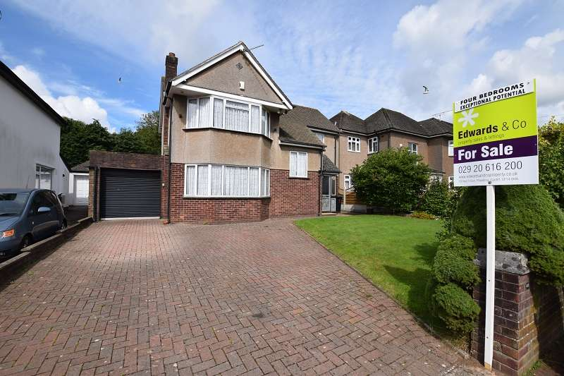 4 Bedrooms Detached House for sale in Heol Y Bryn , Rhiwbina, Cardiff. CF14 6HY