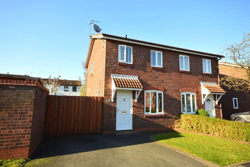 2 Bedrooms Semi Detached House for sale in Canterbury Drive, Perton, Wolverhampton, WV6