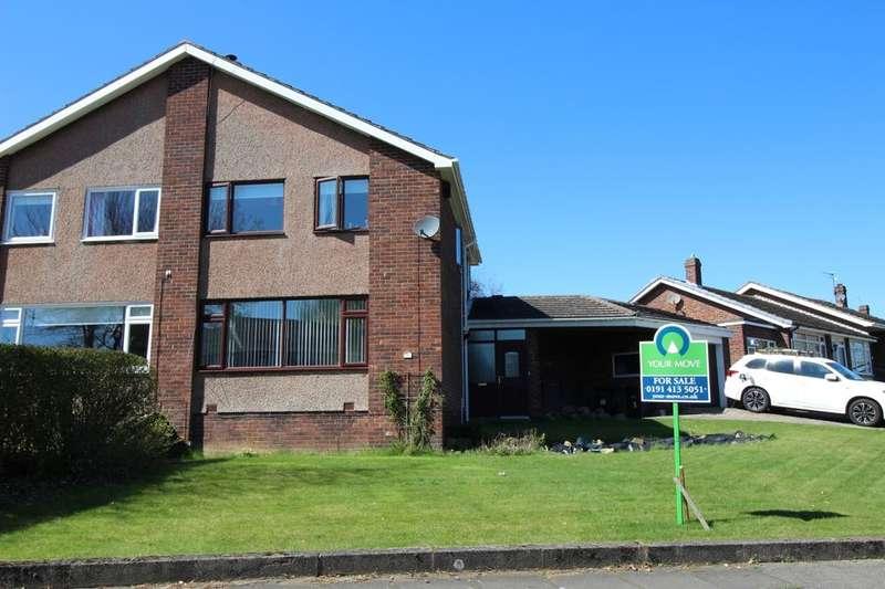 3 Bedrooms Semi Detached House for sale in Grange Drive, Ryton, NE40
