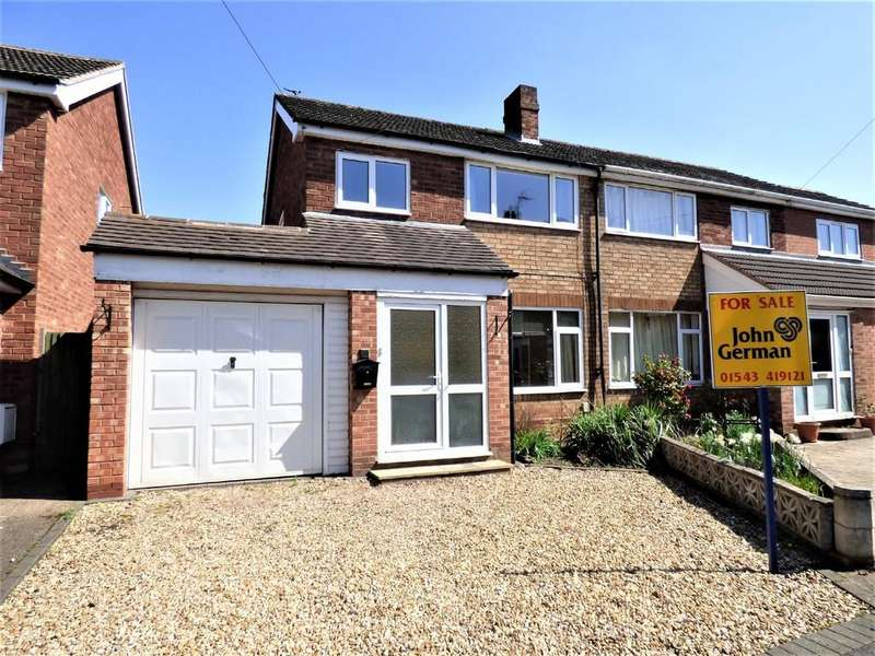 3 Bedrooms Semi Detached House for sale in Rowan Close, Lichfield