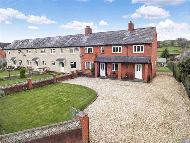 3 Bedrooms End Of Terrace House for sale in 4, Min-y-Sarn, Sarn, Newtown, Powys, SY16