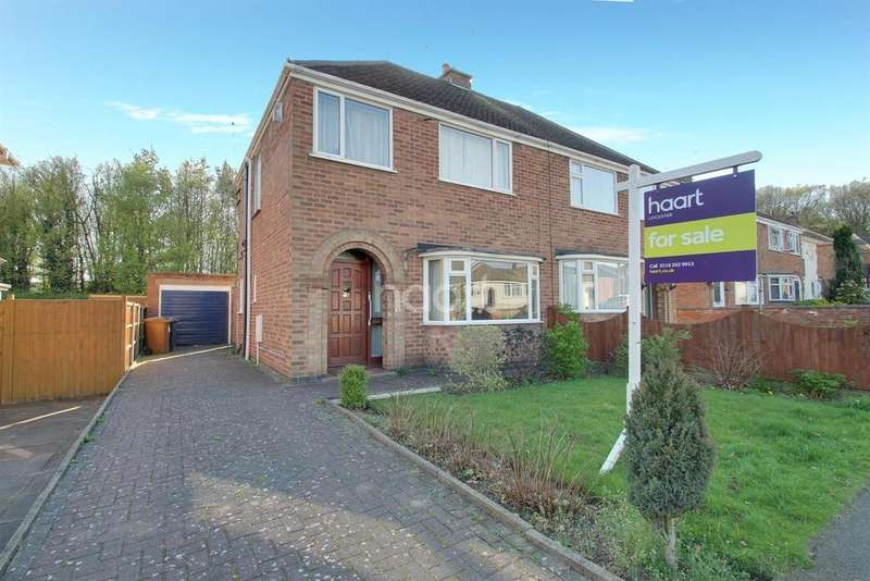 3 Bedrooms Semi Detached House for sale in Woodbank Road, Groby, Leicester
