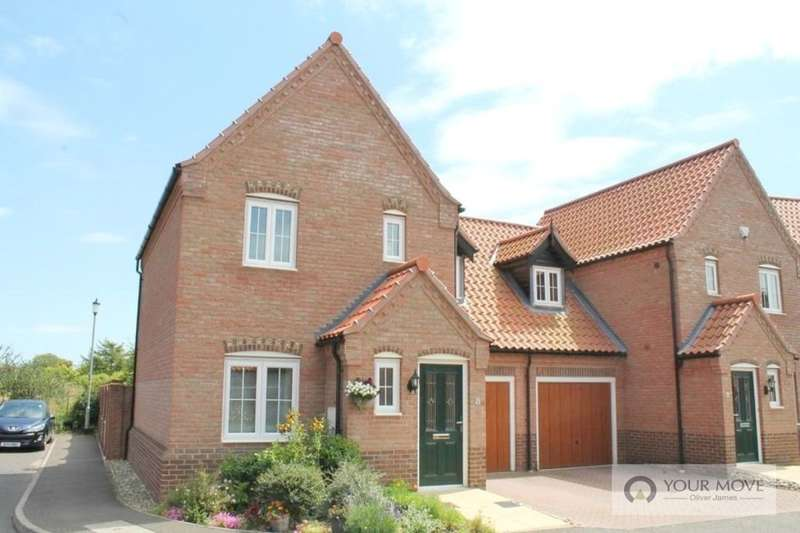 3 Bedrooms Semi Detached House for sale in Clydesdale Drive, Hemsby, Great Yarmouth, NR29