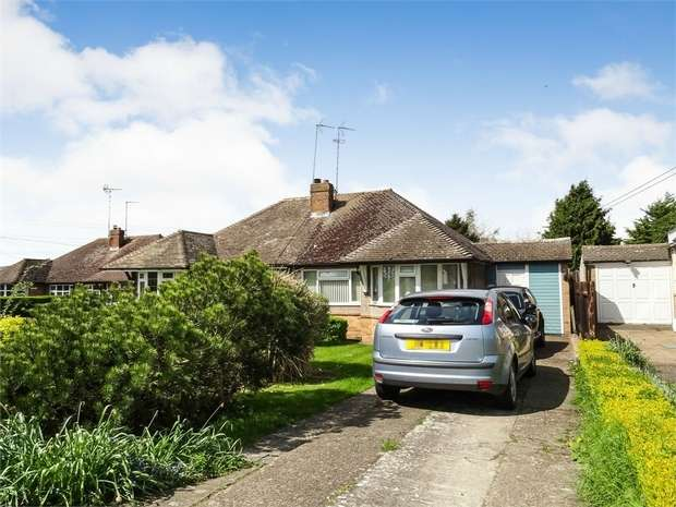 2 Bedrooms Semi Detached Bungalow for sale in Hillview Lane, Great Billington, Leighton Buzzard, Bedfordshire