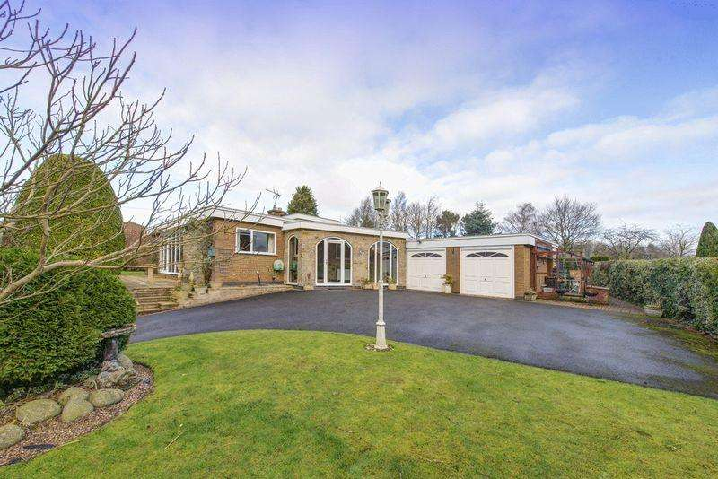 3 Bedrooms Bungalow for sale in Hillcrest, Bullhurst Lane, Weston Underwood, Ashbourne