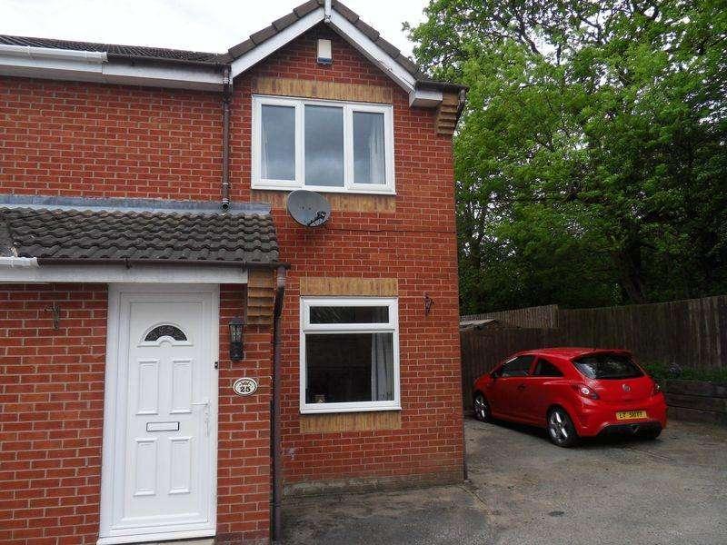 2 Bedrooms Semi Detached House for sale in Oak Close, Coalville