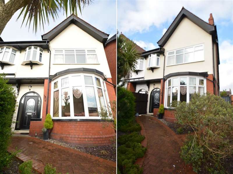 4 Bedrooms Semi Detached House for sale in Whitegate Drive, Stanley Park, Blackpool, FY3 9AL