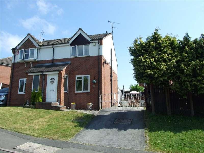 2 Bedrooms Semi Detached House for sale in Birchen Holme, Broadmeadows, South Normanton, Derbyshire, DE55