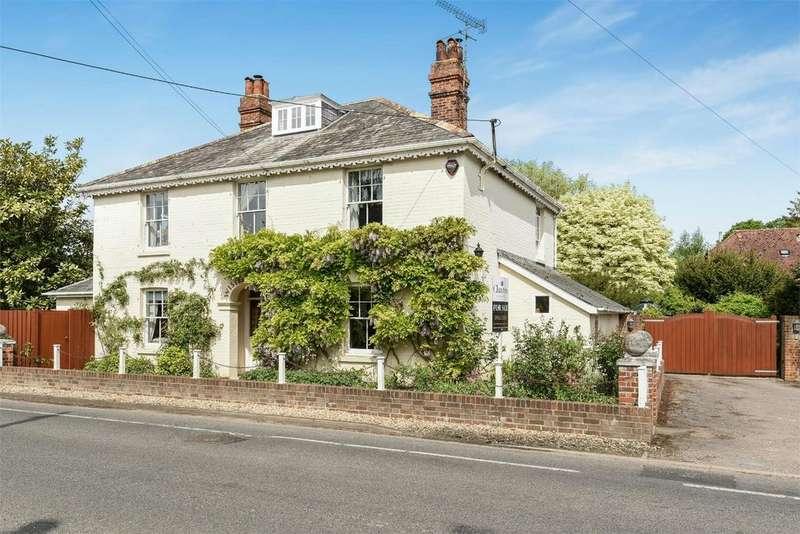 4 Bedrooms Detached House for sale in Romsey Road, Kings Somborne, Stockbridge, Hampshire