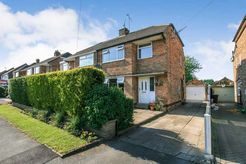 3 Bedrooms Semi Detached House for sale in Longcroft Road, Dronfield Woodhouse, Derbyshire S18 8XX