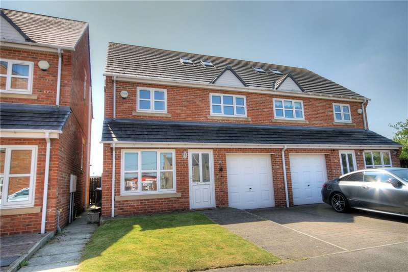 4 Bedrooms Semi Detached House for sale in Melbeck Court, Great Lumley, Chester Le Street, DH3