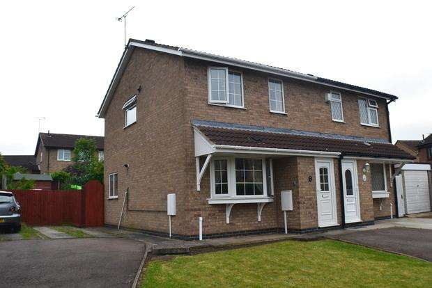 3 Bedrooms Semi Detached House for sale in Simons Close, Wigston Harcourt, Leicester, LE18