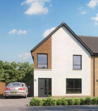 3 Bedrooms End Of Terrace House for sale in Newfield Square, Glasgow, Lanarkshire