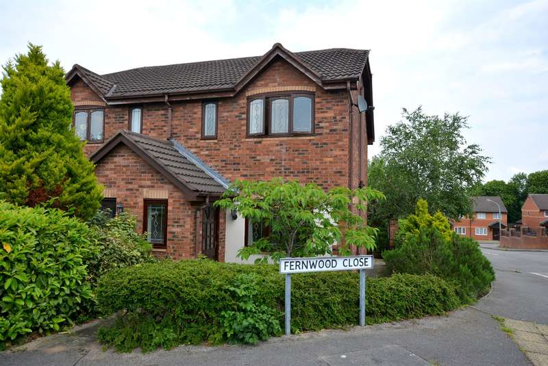 3 Bedrooms Semi Detached House for sale in Fernwood Close, Hasland, Chesterfield, S41 0LF