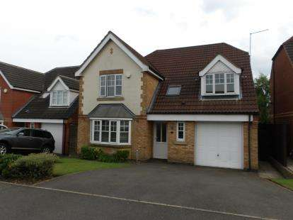 4 Bedrooms Detached House for sale in Sawbridge Close, Ellistown, Coalville