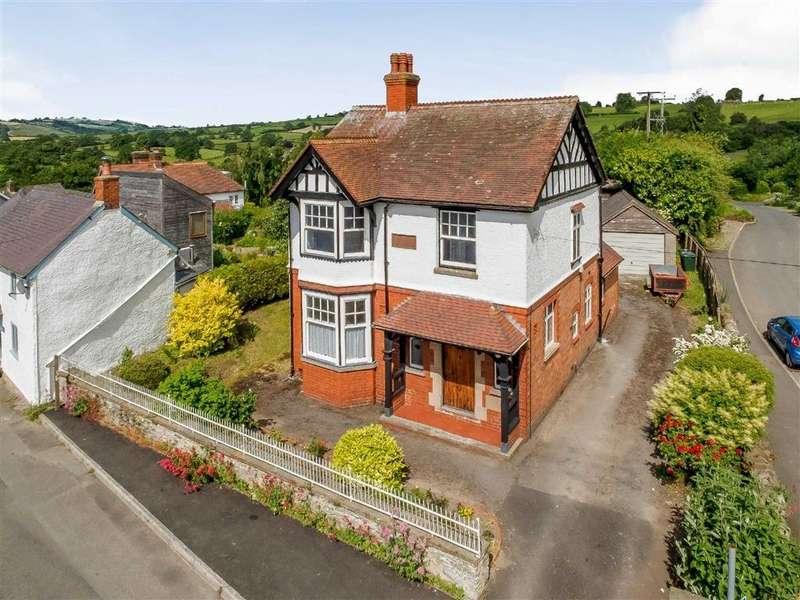 3 Bedrooms Detached House for sale in Oak Villa, Castle Green, Bishop's Castle, Shropshire, SY9