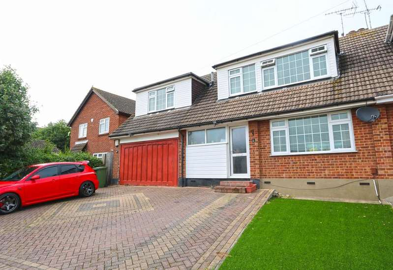 4 Bedrooms Semi Detached House for sale in Brackendale Avenue, Basildon SS13