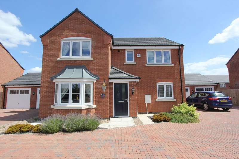 4 Bedrooms Detached House for sale in Simpson Road, Stoney Stanton, Leicester, Leicestershire, LE9 4AF
