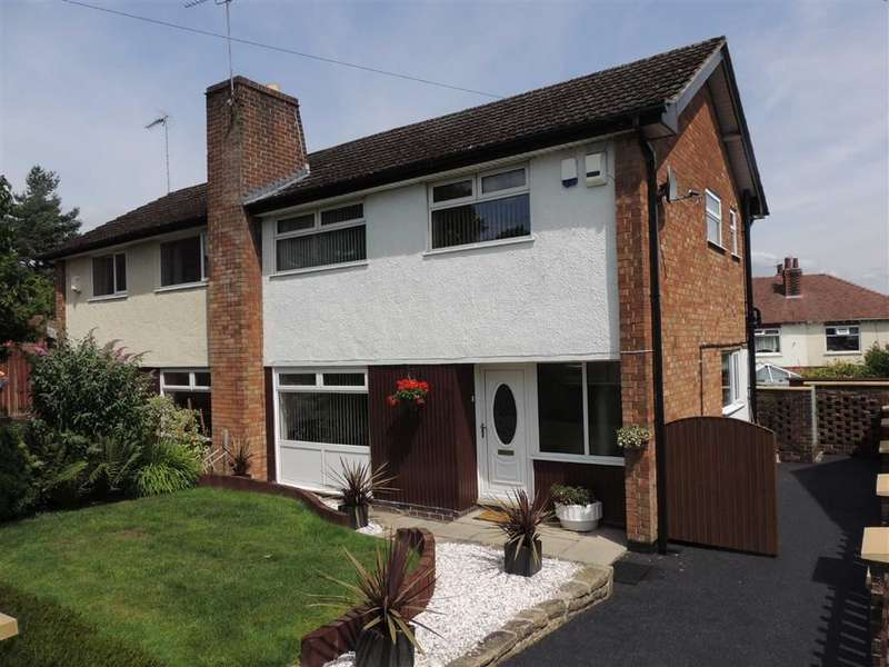 3 Bedrooms Semi Detached House for sale in St Christophers Drive, Romiley, Stockport