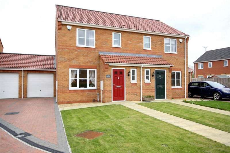 3 Bedrooms Semi Detached House for sale in Bourne Close, Sleaford, Lincolnshire, NG34