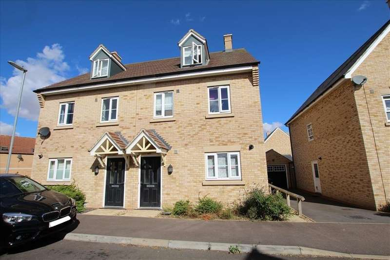 3 Bedrooms Semi Detached House for sale in Torquay Close, Biggleswade, SG18