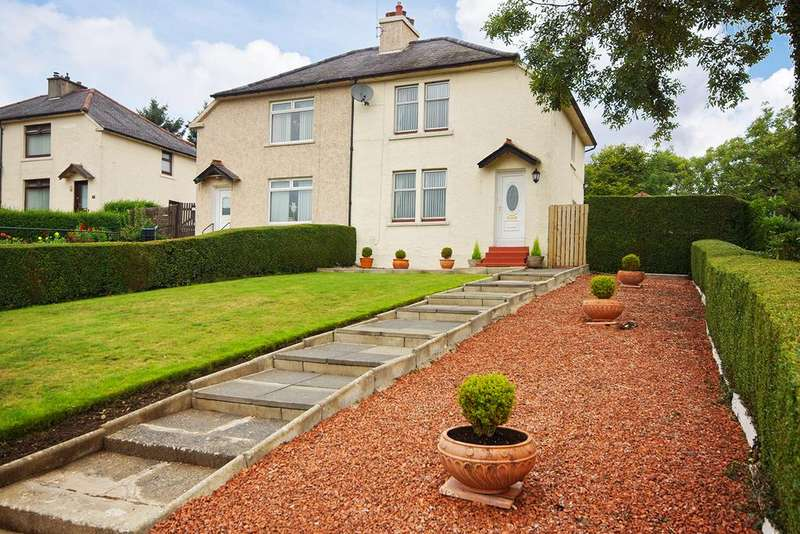 2 Bedrooms Semi Detached House for sale in The Crescent KA3