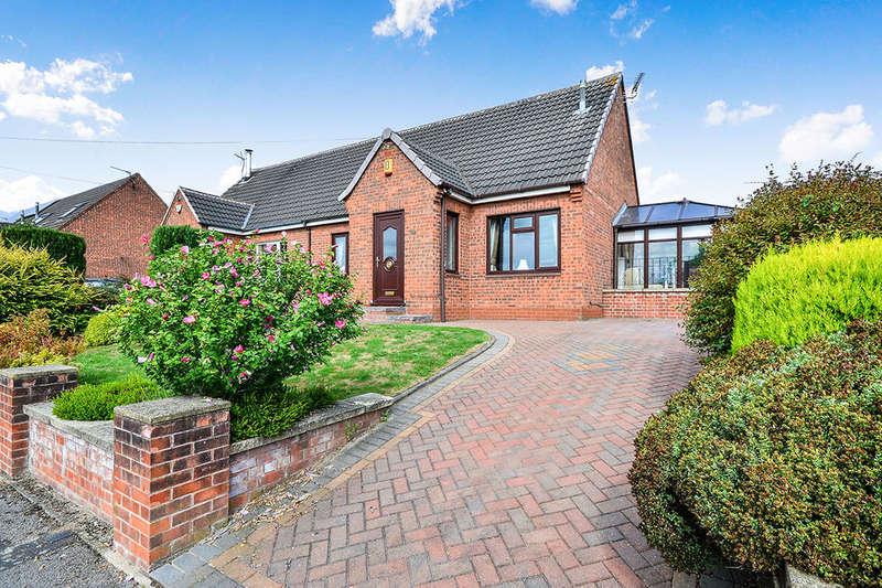 2 Bedrooms Semi Detached Bungalow for sale in Oakdale Road, Broadmeadows,South Normanton, Alfreton, DE55