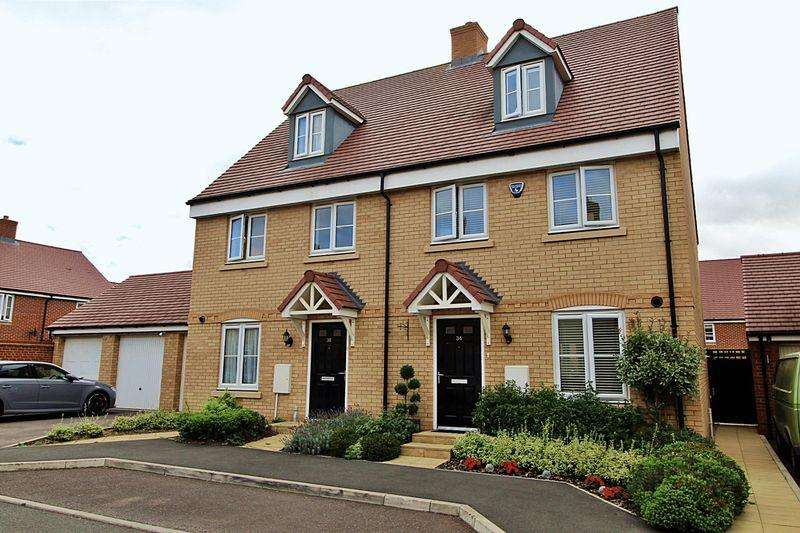 4 Bedrooms Semi Detached House for sale in Hawking Drive, Biggleswade